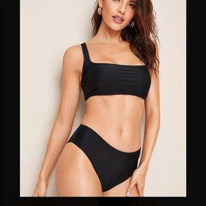 Never worn black bikini set size large
